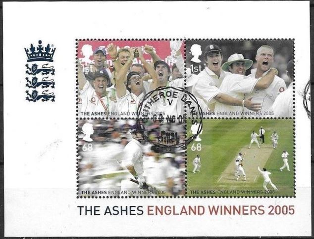 2005 GB - MS2573 - Celebrating Winning of the Cricket Ashes VFU