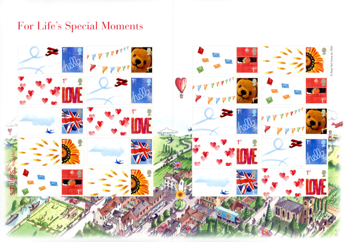 "2006 GB - LS32 - ""Life's Special Moments"" Smiler Sheet MNH"