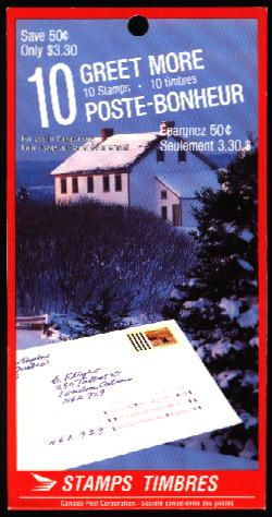 1989 CDN - BK106 (SB118) $3.33 Christmas (Greet More)