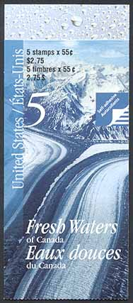 2000 CDN - BK228 (SB241) $2.75 Rivers and Lakes (US)