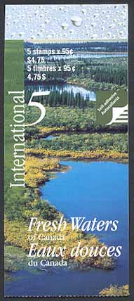 2000 CDN - BK229 (SB242) $4.75 Rivers and Lakes (Int)