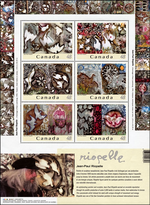 2003 CDN - SG MS2236 - Riopelle