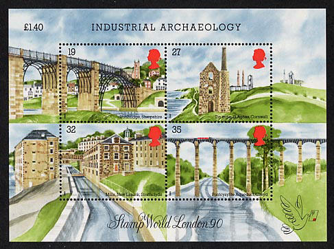 1989 GB - MS1444 - Industrial Archaeology MNH