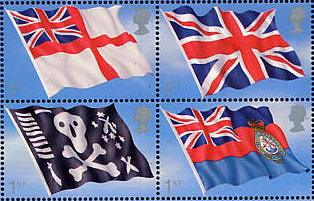 2001 GB - MS2206 - 4 Singles from Centenary Royal Navy Flags VFU