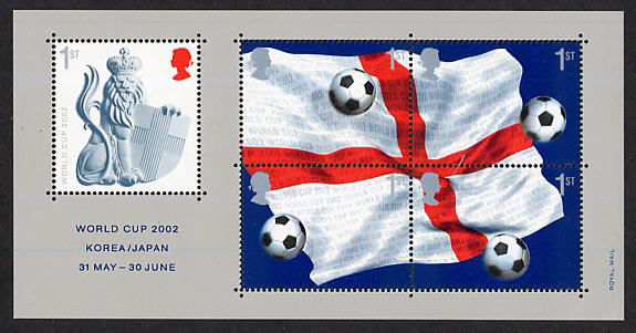 2002 GB - MS2292 - World Cup Football Championship MS MNH