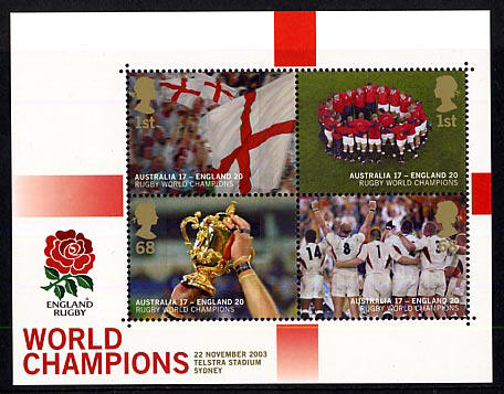 2003 GB - MS2416 - England's Victory in Rugby World Cup MS MNH