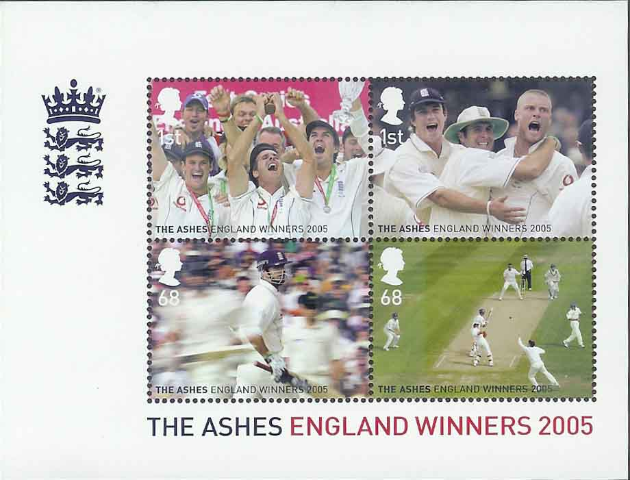 2005 GB - MS2573 - Celebrating the Winning of the Cricket Ashes